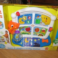 Reviews by Chelsea: Brightstarts Toys! #BabyLOLL #BrightStarts #ToddlerFavorites